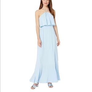 WAYF Light Blue Burke Pop-Over Maxi Dress XS